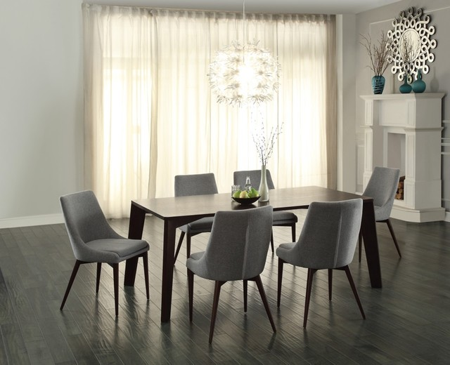Home Elegance Ultra Modern Espresso Dining Table With Gray  : contemporary dining sets from www.houzz.com size 640 x 520 jpeg 67kB