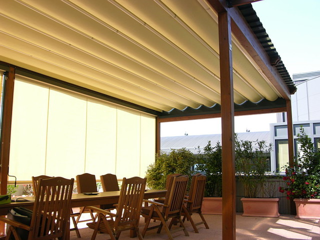 Pergotenda  Patio Awnings With Retractable Roofs By Corradi Patio
