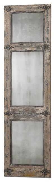 Uttermost Saragano Distressed Leaner Mirror.