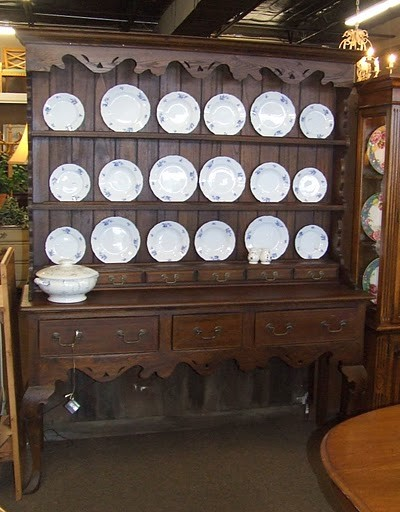 Large French Country China Cabinet Hutch