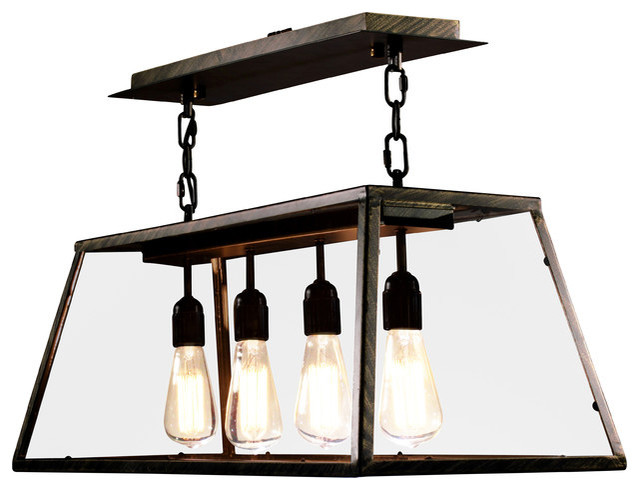 Edison Island Light Black Industrial Kitchen Island Lighting By Unbeatablesale Inc
