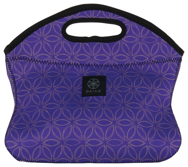 Gaiam Flower Of Life Lunch Clutch, Purple.