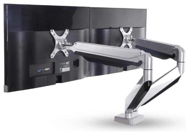 Full Motion Gas Spring DualArm Desk Mounts Monitor Arm 1027