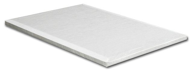 """Sharpay Contemporary Multi-Slat Queen 2"""" Bunkie Board, White."""