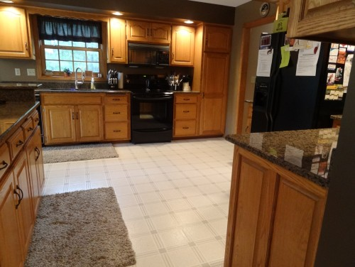 Kitchen Tiles Layout please help with ceramic tile layout/color choice in big huge kitchen
