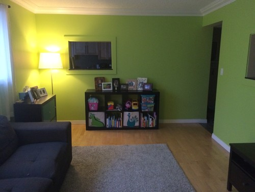 Painted living room a bright colour Help tone down the rest
