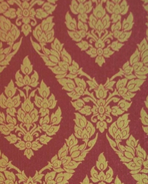 Wallpaper And Fabrics Galore Thai Inspired Damask