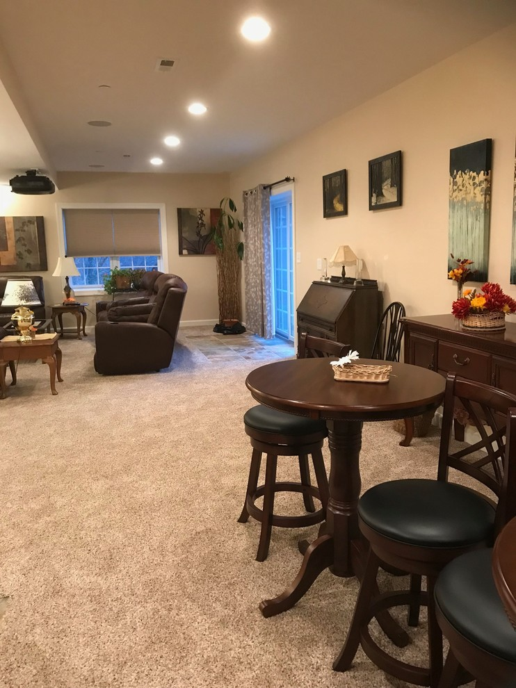 Finished Basement with Wet Bar, Home Theater & Full Bath