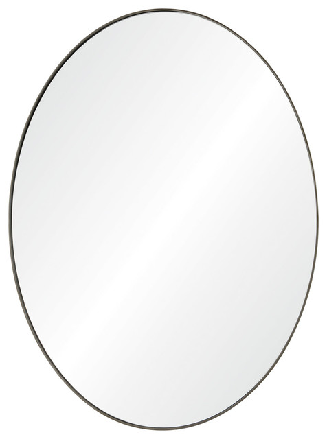 Newport Wall Mirrors, Antique Brushed Silver. -2