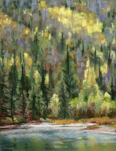"Framed Original Landscape Art, ""Guanella Pass"""