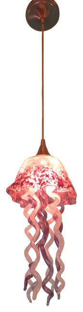 Jellyfish mini glass pendant