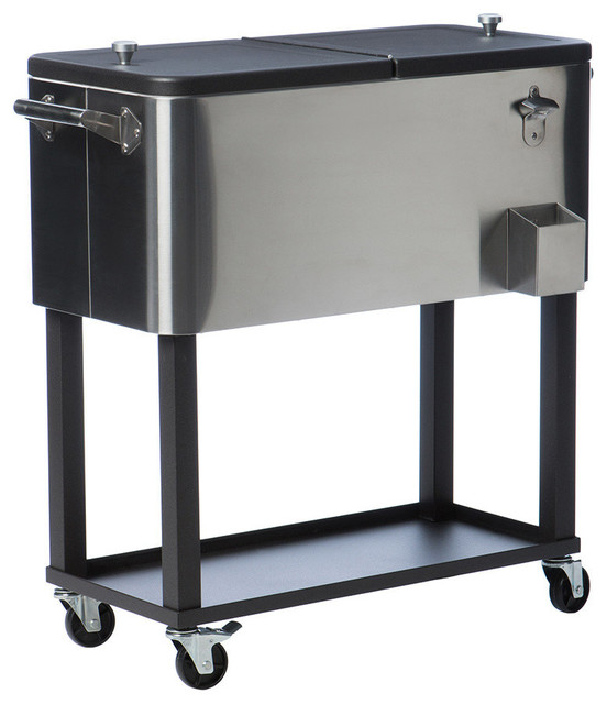 trinity stainless steel cooler with shelf 80 quart