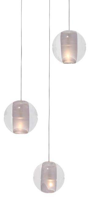 Lightupmyhome Orion 3Light Floating Glass Globe LED Chandelier