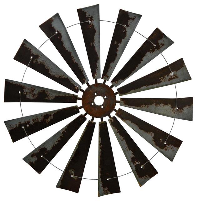 47 Rusty Windmill Wall Art