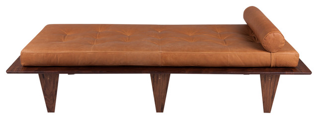 Relaxation Station Daybed, Caramel Leather.