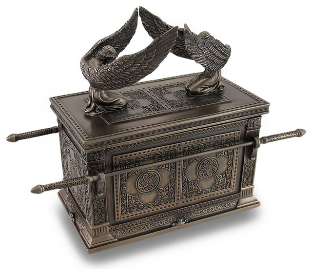 Stunning Bronze Finished Ark Of The Covenant Trinket Box