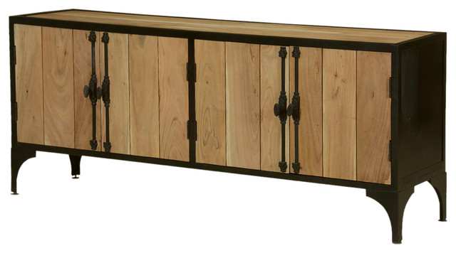 Modern Industrial Wood and Iron Sideboard Cabinet - Industrial ...
