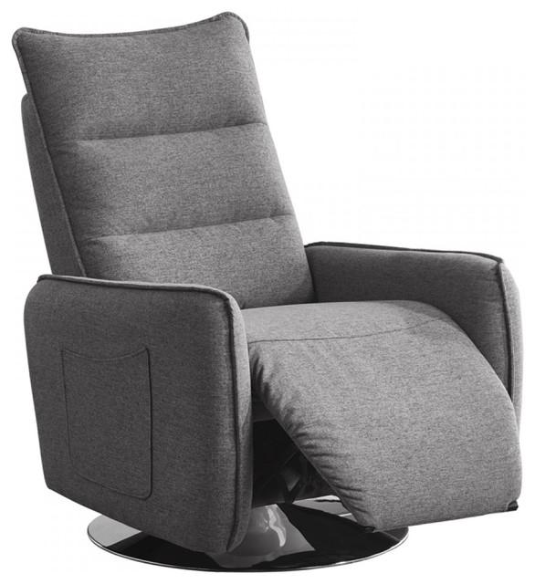 Divani Casa Fairfax Modern Gray Fabric Recliner Chair by Vig Furniture Inc.