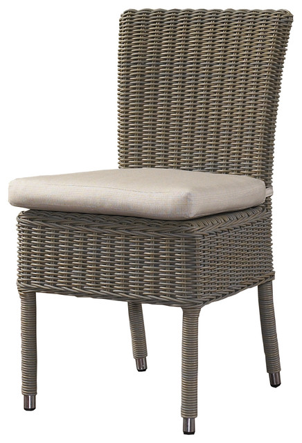 Outdoor Boca Chair With White Outdoor Cushion.