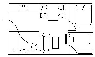 What do you think of this floor plan for a small apartment unit
