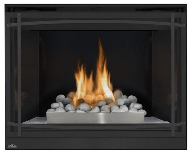 Napoleon 46 Vent Gas Fireplace Up To 30000 Btus Heat Resistant Glass Door.