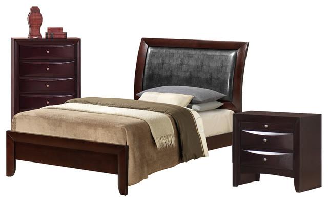 madison king 3 piece set transitional bedroom furniture sets by