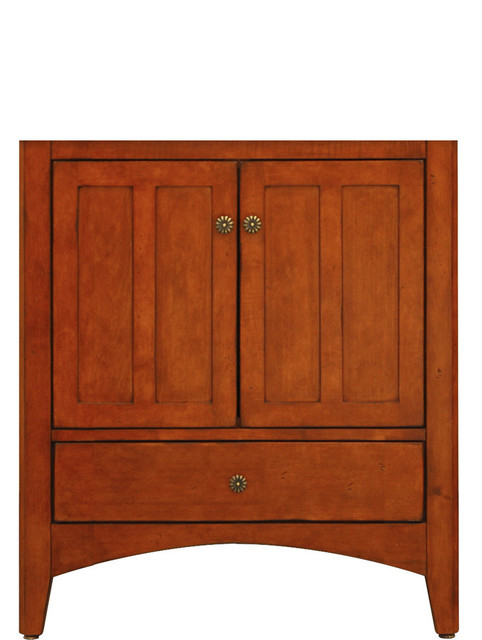 Expressions assembled vanity with 2 doors and 1 bottom - Bathroom vanity with bottom drawer ...