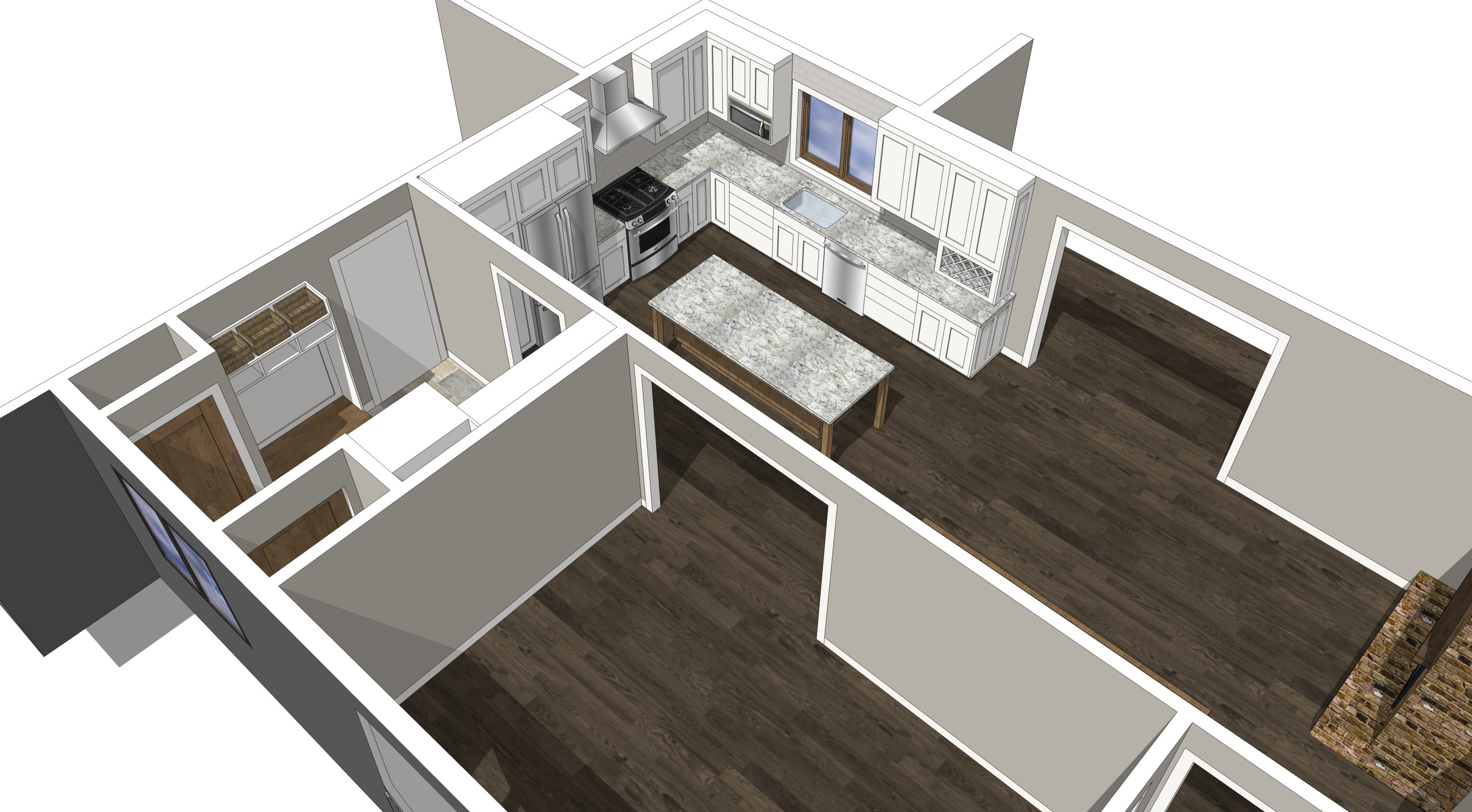 New Brighton - 3D living space remodel