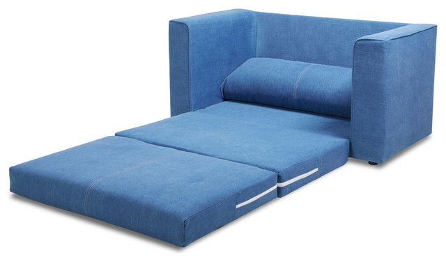 Corona Convertible Loveseat Sleeper Royal Blue