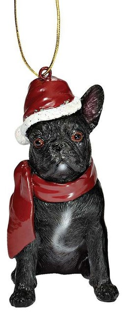 French Bulldog Holiday Dog Ornament Sculpture - Contemporary ...