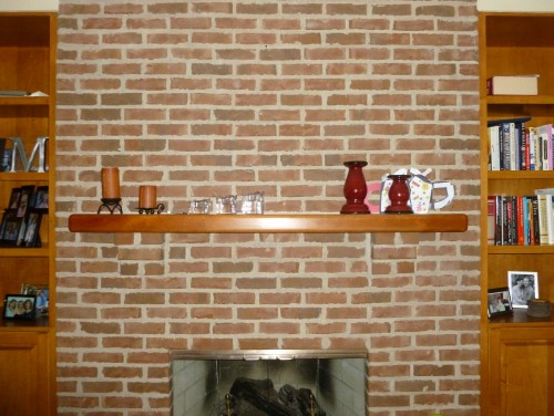 Paint Bookcases And Or Brick Fireplace Surround