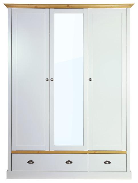 Sandringham 3 Door Wardrobe With 2 Drawers And Mirror