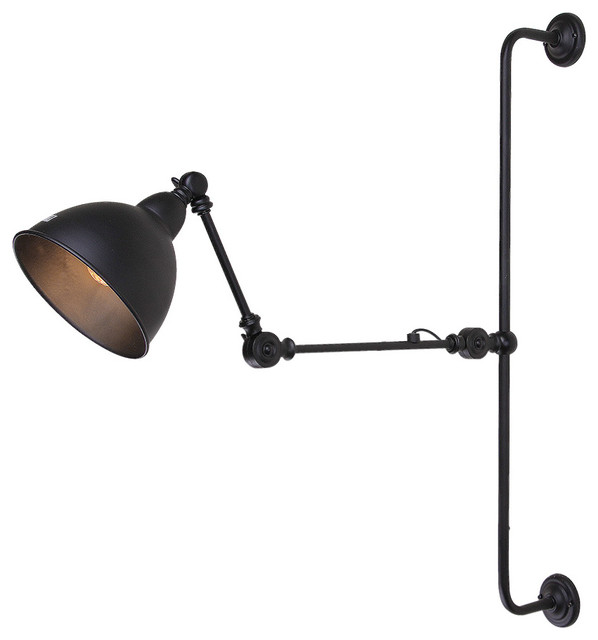 LNC Retro Style Industrial Adjustable Wall Lamp - Industrial - Swing Arm Wall Lamps - by LNC ...