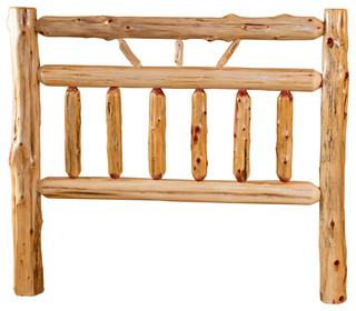 Rustic Red Cedar Log Wagon Headboard King Size