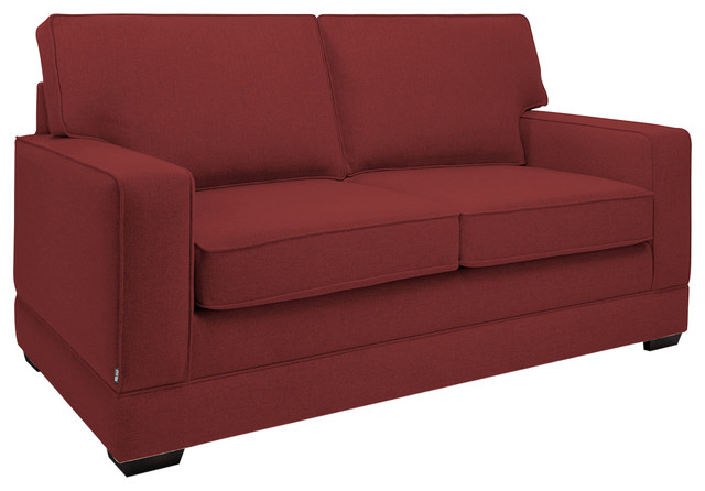 Modern Pocket Sprung Sofa Bed Cranberry Red