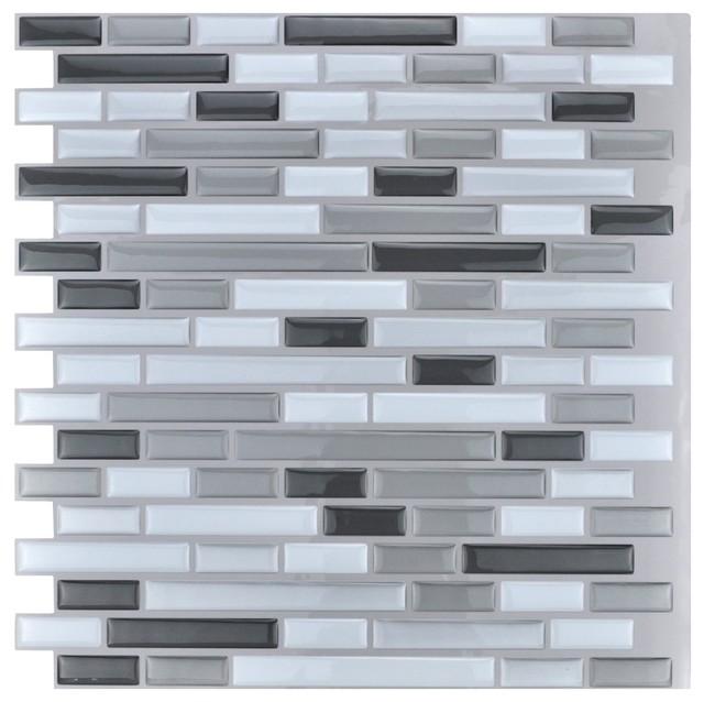 peel and stick wall tiles set of 10 12  x12  12  x12   peel and stick kitchen backsplash wall tiles      rh   houzz com