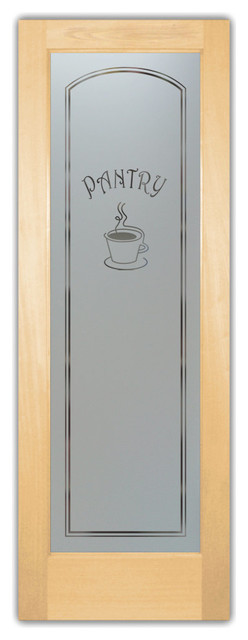 Pantry Door Glass Java Etched Glass