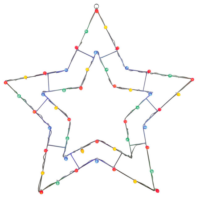 "48""x48"" Multi 5 Point Star C7 Wire Motif."