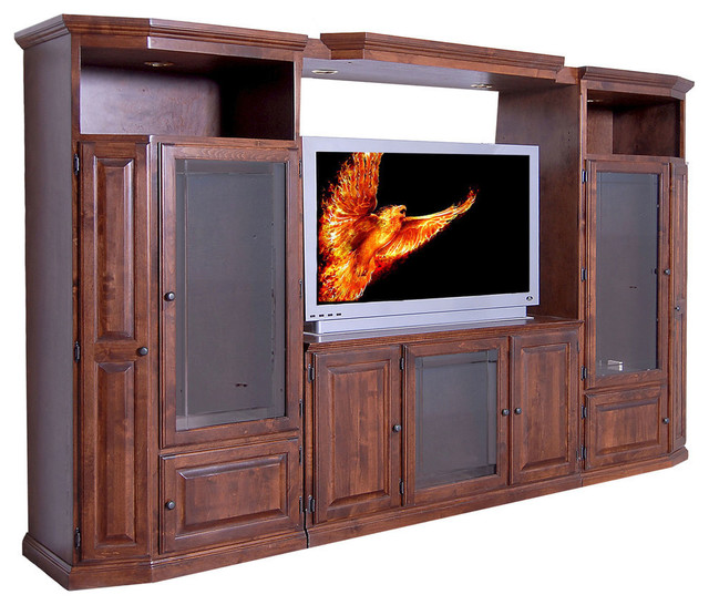 Traditional 3 Piece Wall And Tv Stand And Adjustable Shelf