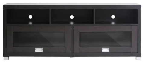 Baxton Studio Swindon Modern Tv Stand With Glass Doors.
