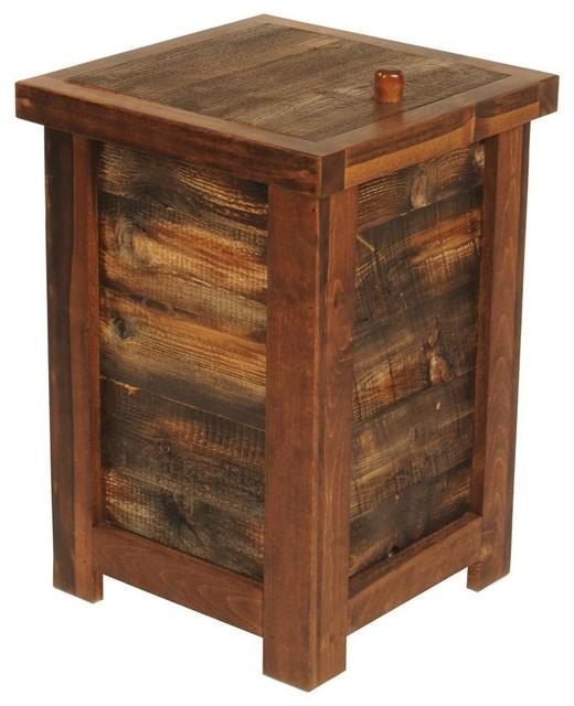 Rustic Wood Clothes Hamper.