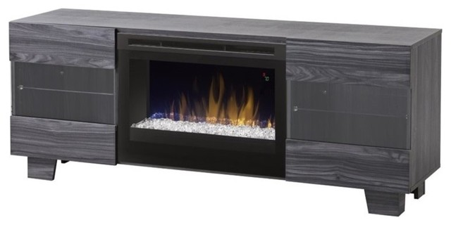 Dimplex Max Fireplace TV Stand, Carbonized Walnut - Transitional ...