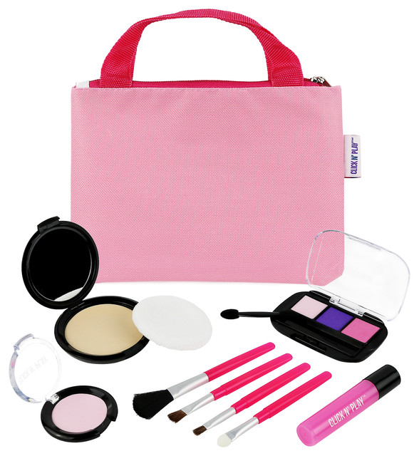 kids makeup brushes. click n\u0027 play pretend cosmetic and makeup set with pink tote bag contemporary- kids brushes
