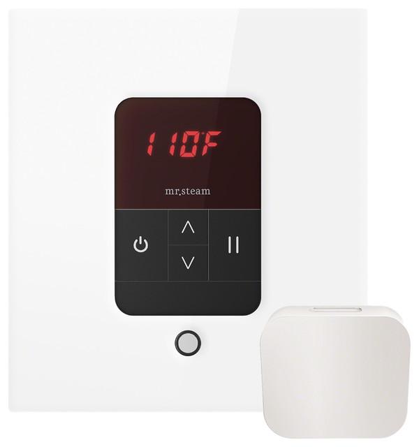 iTempo Square Steam Shower Control, White