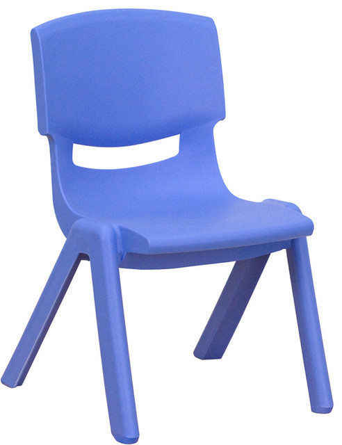 Plastic Stackable School Chair And 10.5u0027u0027 Seat Height, Blue