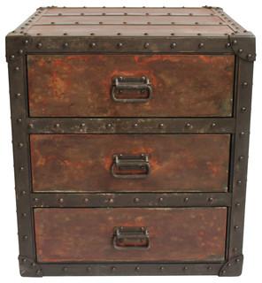 Rivet Metal Side Cabinet