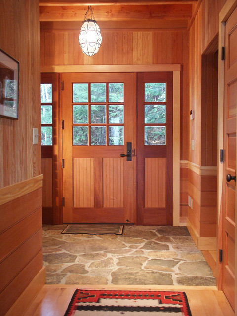 Tile To Wood Floor Transition hardwood to tile transition how to make the transition Rustic Entry By Battle Associates Architects