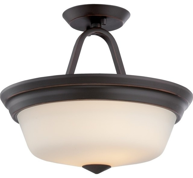 Flush Mount Calvin Collection, Mahogany Bronze.