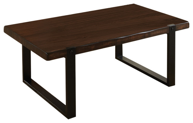Coffee Table Brown Black Finish 703428