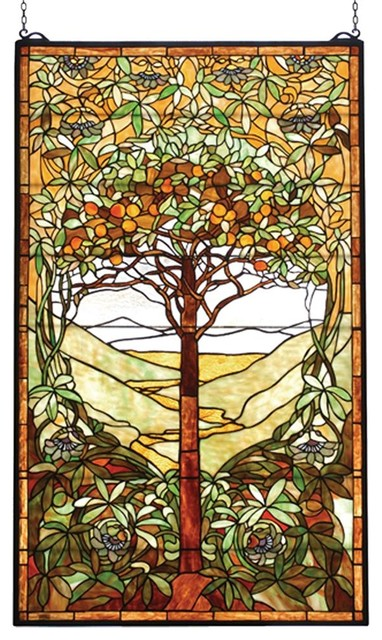 Tree Of Life Stained Gl Window